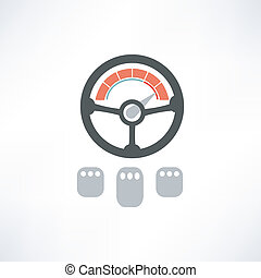 Wheel of a car icon