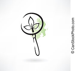 magnifying glass icon plant
