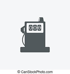 Glossy Fuel Station and amp; Battery Sign Icons - Glossy...
