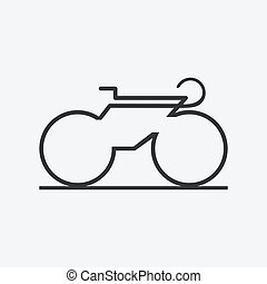 Minimalistic bicycle icon