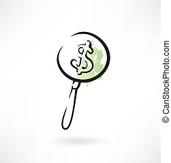 magnifying glass icon money