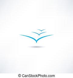 gaivotas, ícone