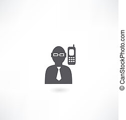 man talking on the phone icon