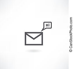 an mail icon, eps10 vector
