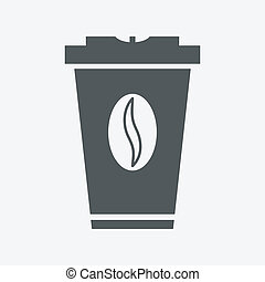 takeaway coffee paper cup with splash