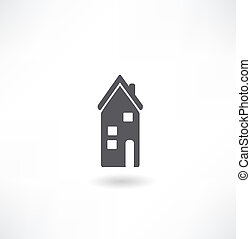 Vector illustration of icons of homes