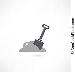 illustration of isolated shovel on white background