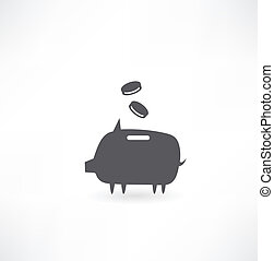 pig with money icon
