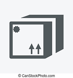 Vector sealed box icon