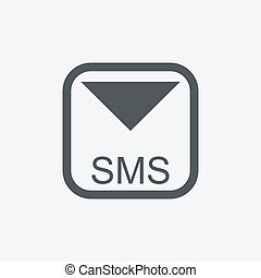 Mobile sms text message mail icons set