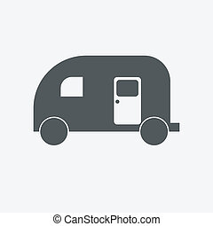 Set of transport icons - trailers
