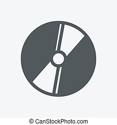 compact disc on white background. Vector illustration
