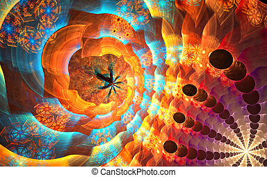 Micro space: fractal background - Fractal background with...