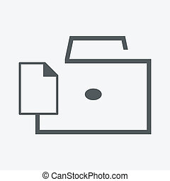 briefcase with documents icon