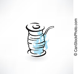 spool of thread grunge icon