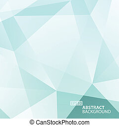 Abstract Blue - Green Geometric Background.