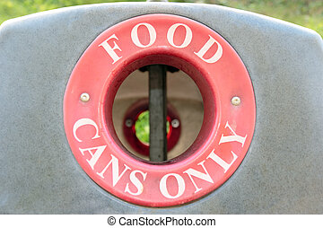 bin food cans only
