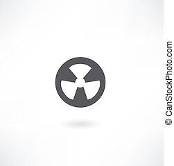 radiation sign icon