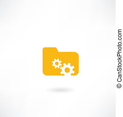 folder icon with cogs