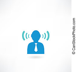 people icon with radio waves
