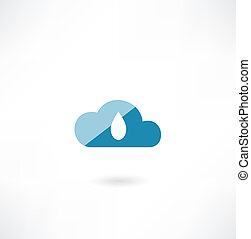 cloud icon with a drop