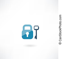 lock with key icon