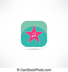 music note in the star icon