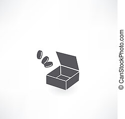 box with coins icon