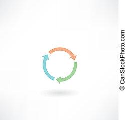circular arrow icon