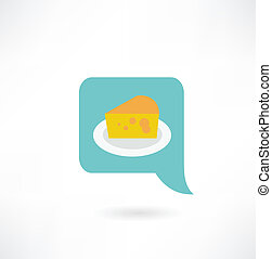 cheese on a plate icon