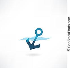 anchor wave icon