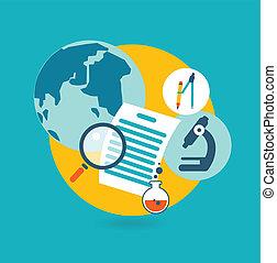 Flat design illustration concept for science