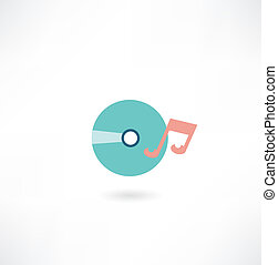 CD with music icon