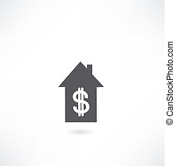 house icon with dollar icon