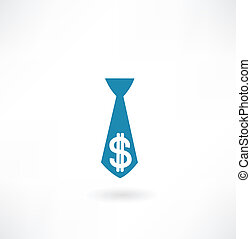 tie with dollar icon