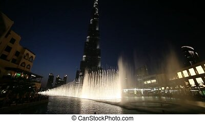 Dubai Khalifa and Fountain - beautiful fountain in Dubai...
