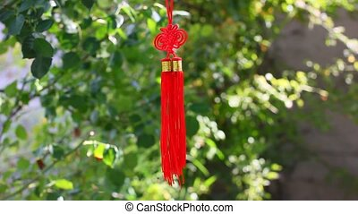 Asian knot talisman decoration