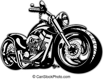 Vector Cartoon Motorbike Available EPS-8 vector format...