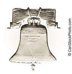 Liberty Bell - Abstract Liberty Bell over a white background