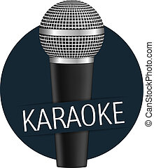 Karaoke banner with a microphone, vector eps10 illustration
