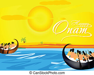 Happy Onam Background vector illustration