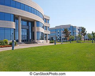 escritório, edifícios