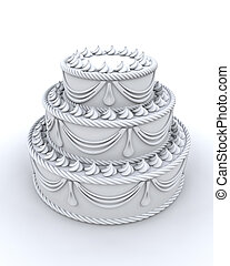 3d render of decorated cake
