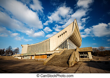 Abandoned Palace of Concerts and Sports in Vilnius,...