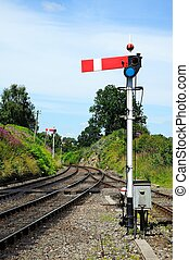 Lower quadrant semaphore signal - Lower quadrant semaphore...