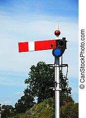Lower quadrant semaphore signal. - Lower quadrant semaphore...