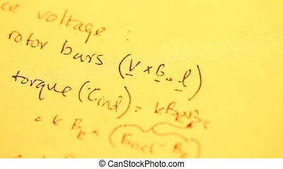 Mathematical Background - Close up of a mathematical content...