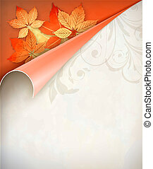 Autumn Vector Corner Card