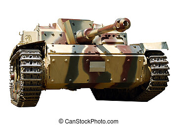 tank - front view of tank isolated