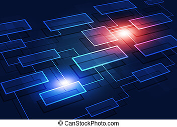 Business Flow Chart Abstract Background - concept...